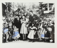 """Jerry Maren, Mickey Carroll, & Karl Slover Signed """"Wizard of Oz"""" 16x20 Photo with Inscriptions (JSA COA) at PristineAuction.com"""