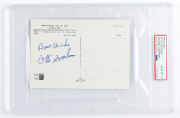 """Otto Graham Signed 4x6 Postcard Inscribed """"Best Wishes"""" (PSA Encapsulated) at PristineAuction.com"""