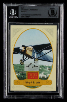 Charles Lindbergh Spirit of St. Louis 2012 Panini Golden Age #28 with (1) Hand-Written Word from Letter (Beckett LOA Copy) at PristineAuction.com
