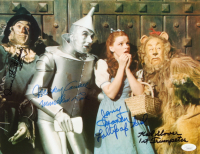 """""""The Wizard of Oz"""" 11x14 Photo Signed by (4) with Mickey Carroll, Jerry Maren, Karl Slover, & Donna Stewart-Hardway with Inscriptions (JSA COA) at PristineAuction.com"""