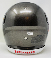 """Tom Brady Signed Buccaneers Super Bowl LV Logo Full-Size Authentic On-Field Speed Helmet Inscribed """"SB LV MVP"""" (Fanatics LOA) at PristineAuction.com"""
