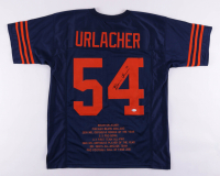 "Brian Urlacher Signed Career Highlight Stat Jersey Inscribed ""HOF 18"" (Beckett COA) at PristineAuction.com"