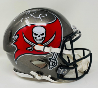 Tom Brady Signed Buccaneers Super Bowl LV Logo Full-Size Authentic On-Field Speed Helmet (Fanatics LOA) at PristineAuction.com