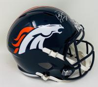 "Peyton Manning Signed Broncos Full-Size Speed Helmet Inscribed ""HOF 21"" (Fanatics Hologram) at PristineAuction.com"