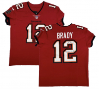 "Tom Brady Signed Buccaneers Jersey Inscribed ""SB LV MVP"" (Fanatics LOA) at PristineAuction.com"