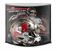 Tom Brady Signed Buccaneers Full-Size Authentic On-Field SpeedFlex Helmet with LE Display Case (Fanatics Hologram) at PristineAuction.com