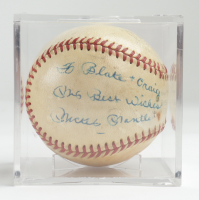 """Mickey Mantle Signed Baseball with Display Case Inscribed """"My Best Wishes"""" (Beckett LOA & Marshall LOA) (See Description) at PristineAuction.com"""
