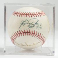 Hall of Fame ONL Baseball Signed By (4) With Harmon Killebrew, Gaylord Perry, Billy Williams & Fergie Jenkins With Display Case (Beckett LOA & Marshall LOA) at PristineAuction.com