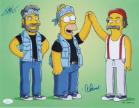 """Tommy Chong & Cheech Marin Signed """"The Simpsons"""" 11x14 Photo (JSA Hologram) at PristineAuction.com"""