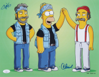"""Tommy Chong & Cheech Marin Signed """"The Simpsons"""" 11x14 Photo (JSA COA) at PristineAuction.com"""