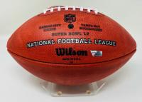 """Tom Brady Signed """"The Duke"""" Super Bowl LV Logo NFL Official Game Ball Inscribed """"SB LV Champs"""" (Fanatics LOA) at PristineAuction.com"""