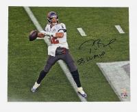 "Tom Brady Signed Buccaneers 16x20 Photo Inscribed ""SB LV MVP"" (Fanatics LOA) at PristineAuction.com"