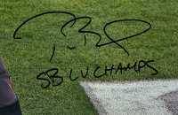 "Tom Brady Signed Buccaneers 16x20 Photo Inscribed ""SB LV Champs"" (Fanatics LOA) at PristineAuction.com"