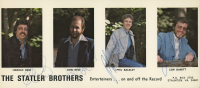 """""""The Statler Brothers"""" 4x9 Postcard Signed By Harold Reid, Don Reid, Phil Balsley & Lew DeWitt (Beckett LOA) at PristineAuction.com"""