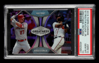 Ronald Acuna Jr. / Mike Trout 2019 Topps Chrome Greatness Returns #GRE10 (PSA 10) at PristineAuction.com