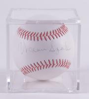 Warren Spahn Signed OL Baseball With Display Case (Beckett COA & Marshall LOA) at PristineAuction.com