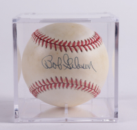 Bob Gibson Signed Baseball With Display Case (Beckett COA & Marshall LOA) at PristineAuction.com