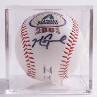 Mark Grace Signed Diamondbacks 2001 World Series Logo Baseball With Display Case (Beckett COA & Marshall LOA) at PristineAuction.com
