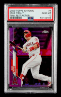 Mike Trout 2020 Topps Chrome Pink Refractors #1 (PSA 10) at PristineAuction.com