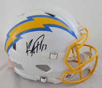 Keenan Allen Signed Chargers Full-Size Authentic On-Field Speed Helmet (Beckett Hologram) at PristineAuction.com
