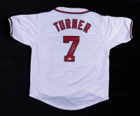 Trea Turner Signed Jersey (JSA COA) (See Description) at PristineAuction.com