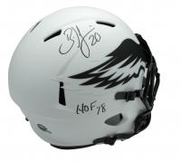 """Brian Dawkins Signed Eagles Full-Size Lunar Eclipse Alternate Speed Helmet Inscribed """"HOF 18"""" (JSA COA) at PristineAuction.com"""