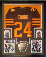 Nick Chubb Signed 34x42 Custom Framed Jersey Display (JSA COA) at PristineAuction.com