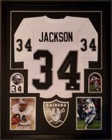 Bo Jackson Signed 34x42 Custom Framed Jersey Display (Beckett COA) at PristineAuction.com