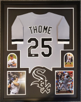 Jim Thome Signed 34x42 Custom Framed Jersey Display (Beckett COA) at PristineAuction.com