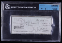 Charles Manson Twice-Signed Hand-Written 1969 Personal Bank Check (JSA Encapsulated) at PristineAuction.com