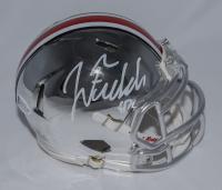 Justin Fields Signed Ohio State Buckeyes Chrome Speed Mini Helmet (Beckett COA) at PristineAuction.com