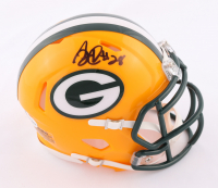 A. J. Dillon Signed Packers Speed Mini Helmet (Beckett COA) at PristineAuction.com