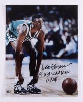 "Dee Brown Signed Celtics 16x20 Photo Inscribed ""91 NBA Slam Dunk Champ!"" (TriStar Hologram) at PristineAuction.com"