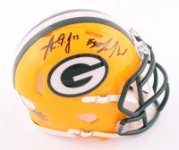 Jamaal Williams & Aaron Jones Signed Packers Speed Mini Helmet (JSA COA) at PristineAuction.com