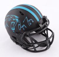 Christian McCaffrey Signed Panthers Eclipse Alternate Speed Mini Helmet (Beckett COA) at PristineAuction.com