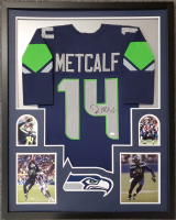 DK Metcalf Signed 34x42 Custom Framed Jersey Display (JSA COA) at PristineAuction.com