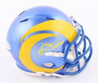"Isaac Bruce Signed Rams Speed Mini Helmet Inscribed ""HOF 20"" (Beckett COA) at PristineAuction.com"