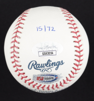 """Reds """"Big Red Machine"""" OML Baseball Signed by (4) with Pete Rose, Joe Morgan, Tony Perez & Johnny Bench (JSA COA) at PristineAuction.com"""