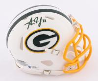 Aaron Jones Signed Packers Matte White Speed Mini Helmet (Beckett COA) at PristineAuction.com
