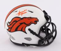 Steve Atwater Signed Broncos Lunar Eclipse Alternate Speed Mini Helmet (Beckett Hologram) at PristineAuction.com