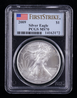 2009 American Silver Eagle $1 One Dollar Coin - First Strike (PCGS MS70) at PristineAuction.com
