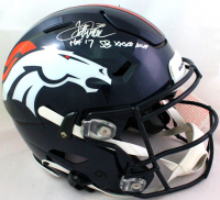 "Terrell Davis Signed Broncos Full-Size Authentic On-Field SpeedFlex Helmet Inscribed ""HOF 17"" & ""SB XXXII MVP"" (Beckett Hologram) at PristineAuction.com"