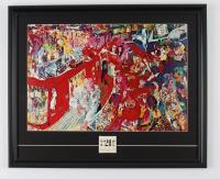 "LeRoy Neiman ""The 21 Club New York City"" 19x23 Custom Framed Print Display with Vintage Original Club Matchbook at PristineAuction.com"