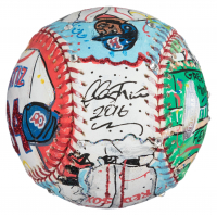 David Ortiz Signed Red Sox Charles Fazzino Hand-Painted Baseball (Steiner Hologram) at PristineAuction.com