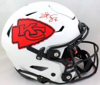 Travis Kelce Signed Chiefs Full-Size Lunar Eclipse Alternate Authentic On-Field SpeedFlex Helmet (Beckett Hologram) at PristineAuction.com