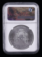 2017 American Silver Eagle $1 One Dollar Coin - First Day of Issue, Elizabeth Jones Signed Label (NGC MS70) at PristineAuction.com