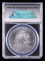 2018 American Silver Eagle $1 One Dollar Coin - Black Eagle Label (ANACS MS70) at PristineAuction.com