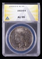 1922-D Peace Silver Dollar (ANACS AU55) at PristineAuction.com