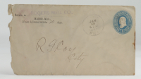 1898 Hand-Written Envelope With Antique US Postal History Stamp at PristineAuction.com