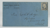 1888 Hand-Written Envelope With Antique US Postal History Stamp at PristineAuction.com